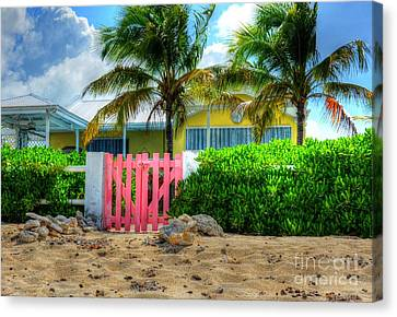 Pink Gate Canvas Print by Debbi Granruth