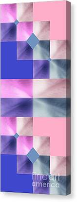 Pink Glow 2 Canvas Print by Ann Calvo