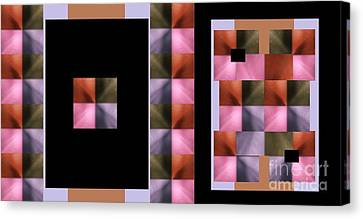 Pink Glow Canvas Print by Ann Calvo