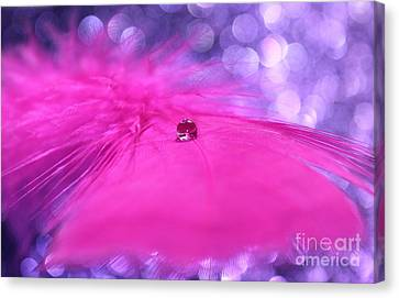 Pink Goddess Canvas Print by Krissy Katsimbras
