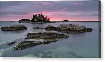 Pink Granite Glow Canvas Print by Patrick Downey