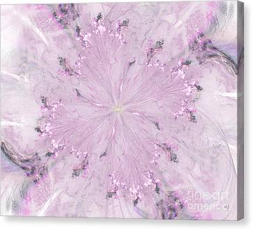 Pink Hibiscus Canvas Print by Victoria Harrington