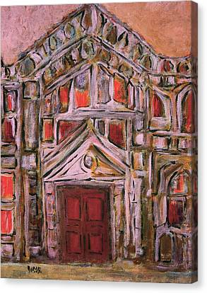 Pink House  Canvas Print by Oscar Penalber