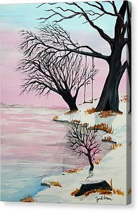 Jack Brauer Canvas Print - Pink Ice by Jack G  Brauer