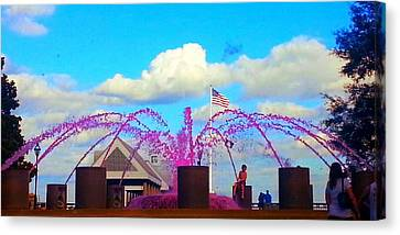 Canvas Print featuring the photograph Pink Inspiration For The Cure by Joetta Beauford