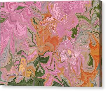 Pink Jungle Canvas Print by Linda Whiteside