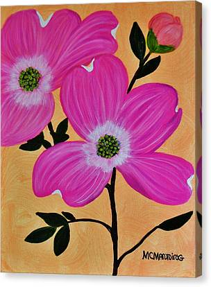 Pink Ladies Canvas Print by Celeste Manning
