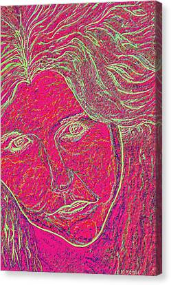 Pink Lady Canvas Print by Mark Moore