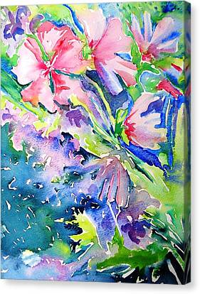 Pink Lavatera Profusion Canvas Print