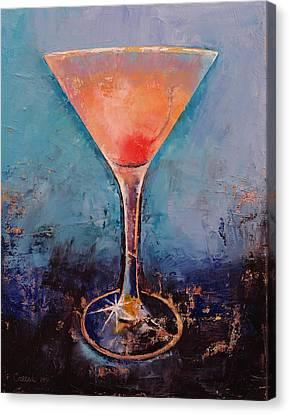 Pink Lemonade Martini Canvas Print by Michael Creese