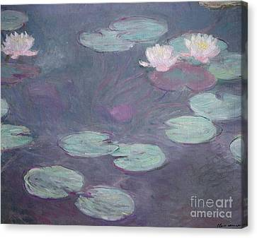 Pink Lilies Canvas Print by Claude Monet