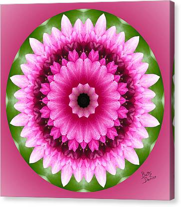 Canvas Print featuring the photograph Pink Lotus Kaleidoscope by Betty Denise