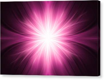 Pink Luminous Rays Background Canvas Print by Somkiet Chanumporn