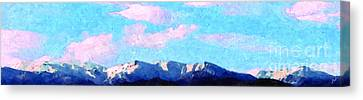 Blue Mountains Canvas Print by Ze  Di