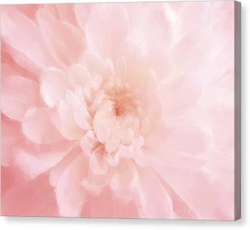 Pink Mum Luminous Painted Blossom Canvas Print by Patricia E Sundik