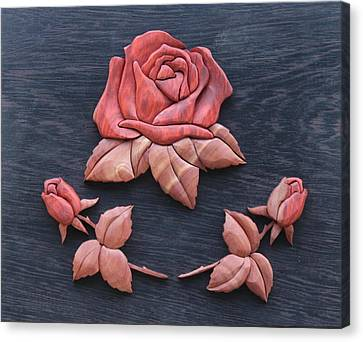 Pink My Lady Rose Canvas Print by Bill Fugerer