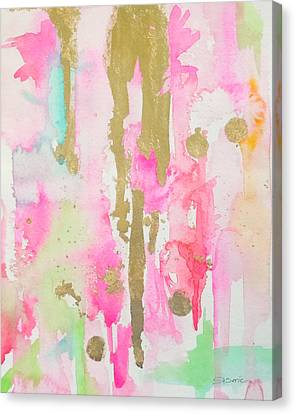Curtain Wall Canvas Print - Pink N Glam by Roleen  Senic