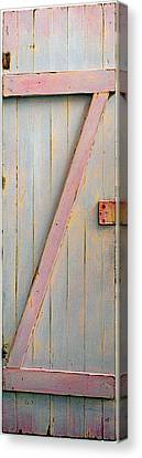 Pink Painted Z Door Canvas Print by Asha Carolyn Young