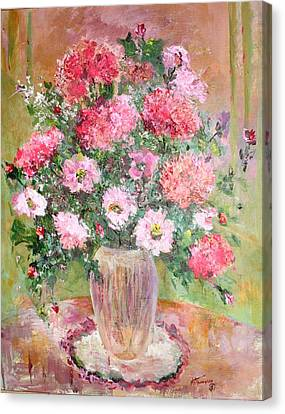 Pink Parfait Canvas Print by Mary Spyridon Thompson