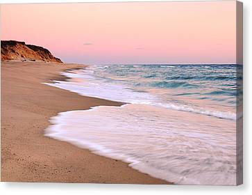 Pink Pastel Beach And Sky Canvas Print