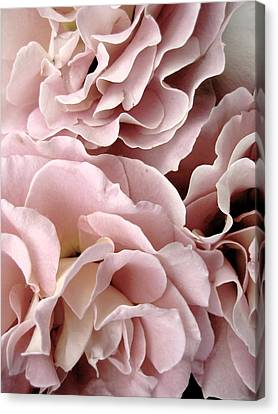 Pink Petal Profusion Canvas Print by Ann Powell