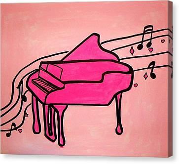 Pink Piano Canvas Print