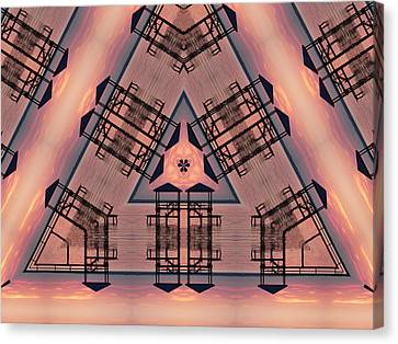 Pink Pier Kaleidoscope One Canvas Print