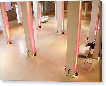 Pink Pillars I Canvas Print by Anna Villarreal Garbis