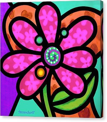 Pink Pinwheel Daisy Canvas Print