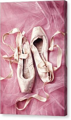 Tulle Canvas Print - Pink Pirouette by Amy Weiss