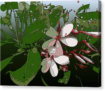 Pink Plumeria Canvas Print by Stacy Vosberg
