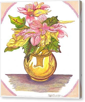 Pink Poinsettia Plant Canvas Print