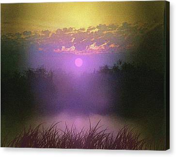 Pink Pond Morning Canvas Print by Robert Foster
