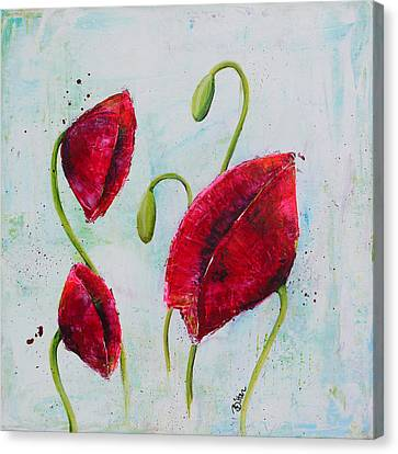 Pink Poppies 1 Canvas Print by Bitten Kari