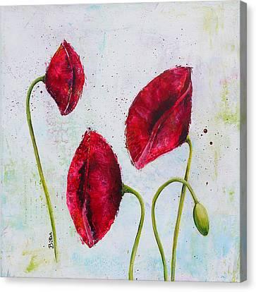 Pink Poppies 2 Canvas Print by Bitten Kari