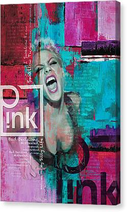 Pink Poster - B Canvas Print by Corporate Art Task Force