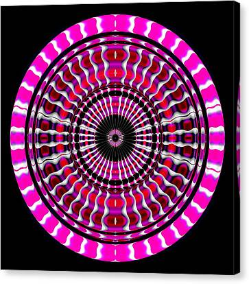 Pink Rings II Canvas Print by Visual Artist  Frank Bonilla