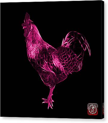 Pink Rooster 3186 F Canvas Print by James Ahn