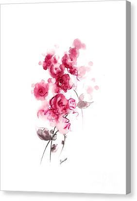 Close Up Canvas Print - Pink Rose by Mariusz Szmerdt