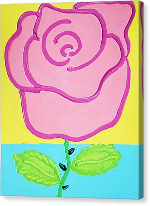 Pink Rose Canvas Print by Matthew Brzostoski