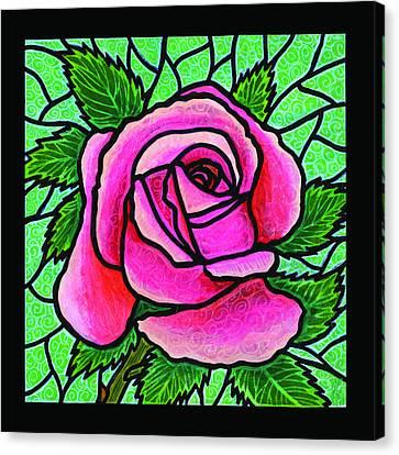 Pink Rose Number 5 Canvas Print by Jim Harris