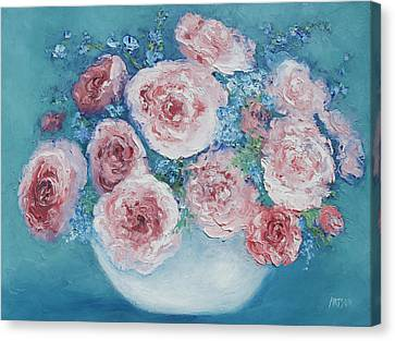 Pink Roses Canvas Print by Jan Matson