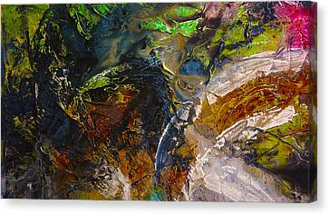 Pink Rust Green  Canvas Print by Andrada Anghel