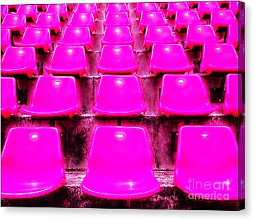 Pink Seats Canvas Print by Michael Knight