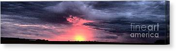 Pink Skies In Stanhope Canvas Print by Garren Zanker