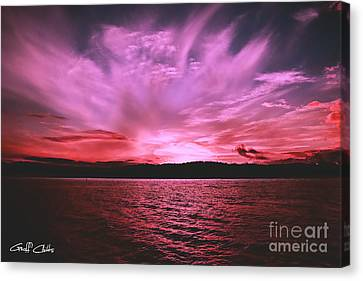 Pink Sky Flame - Sunset Canvas Print by Geoff Childs