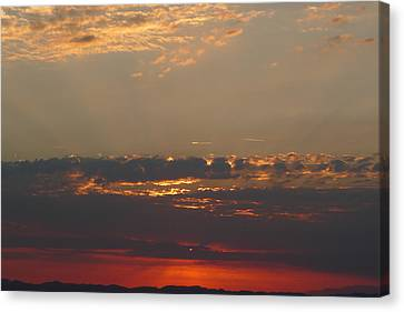 Canvas Print featuring the photograph Pink Sky by Nora Boghossian