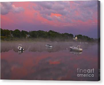 Pink Sky Reflection Canvas Print by Amazing Jules
