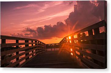 Pink Sky Sunset Canvas Print by Don Durfee