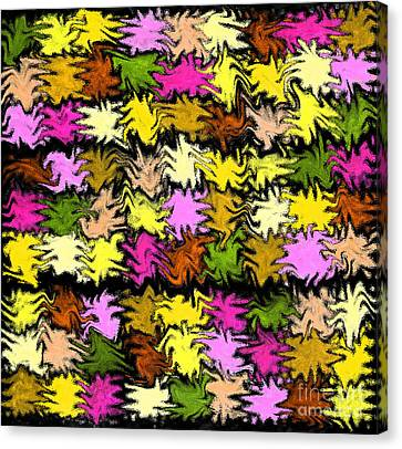Pink Squiggle Quilt Abstract Canvas Print by Karen Adams